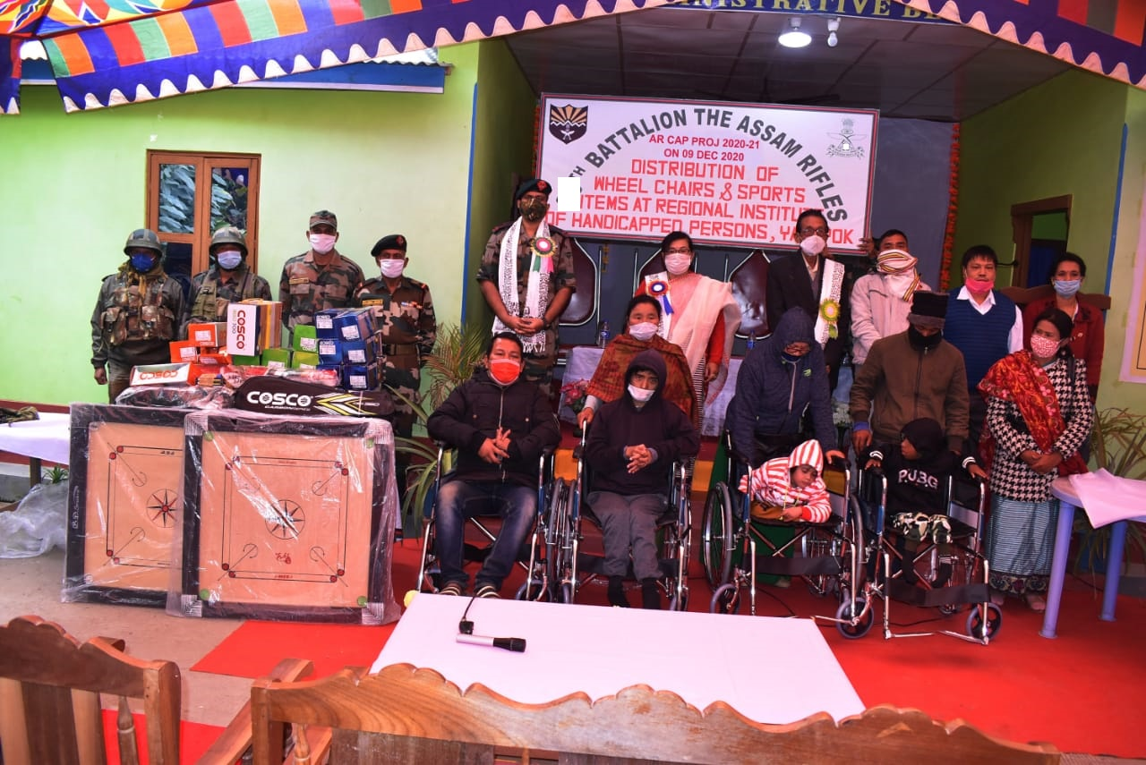 Wheel chairs distributed