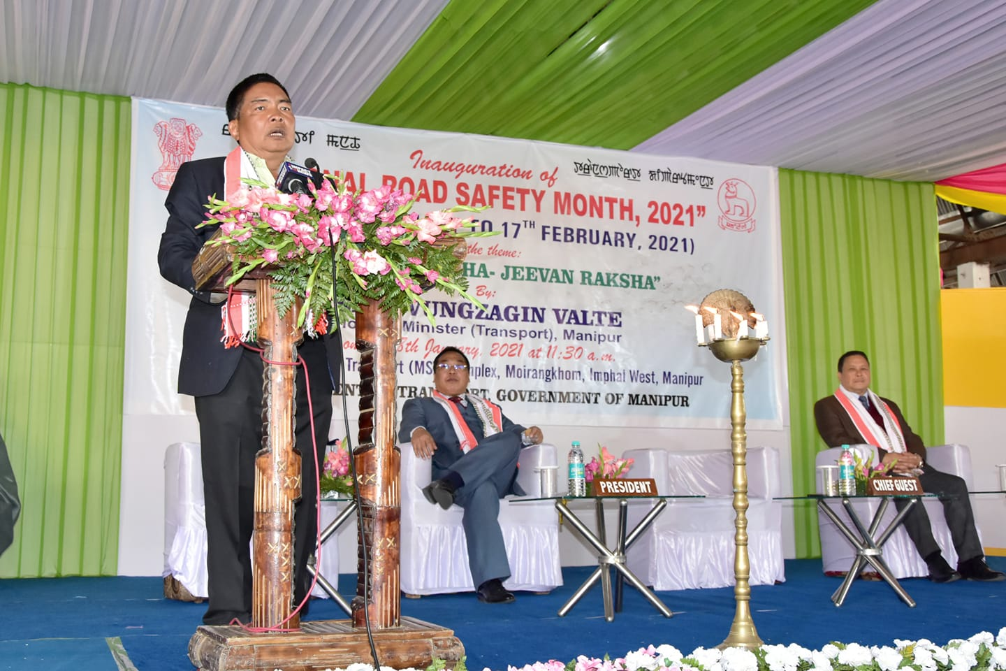 Minister Valte emphasises on road safety guidelines